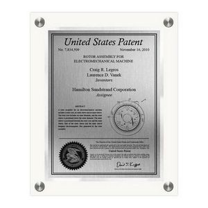 Celebrity Patent Plaque - Small